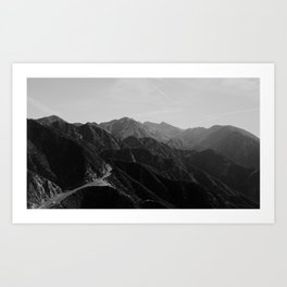 Los Angeles mountains Art Print