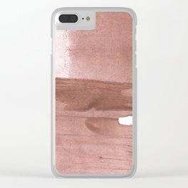 Rosy brown streaked wash drawing Clear iPhone Case