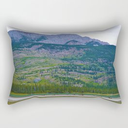 Bull Elk with his Lady Friends on the Athabasca River in Jasper National Park, Canada Rectangular Pillow