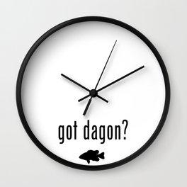 Lovecraft Print Necronomicon Dagon Innsmouth Wall Clock