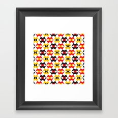 Geometric Pattern #180 (yellow red black) Framed Art Print