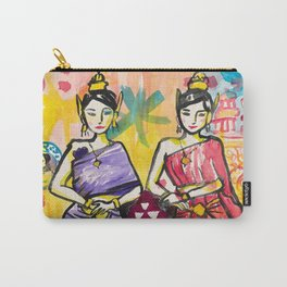 Ladies portrait in Thai dress Carry-All Pouch