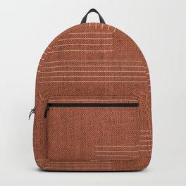 Mudcloth, Minimal, Pattern, Boho Prints, Terracotta Backpack