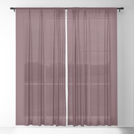 "Marsala burgundy ""Tawny Port"" pantone color Sheer Curtain"