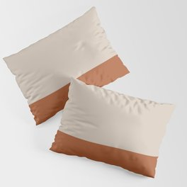 Minimalist Solid Color Block 1 in Putty and Clay Pillow Sham