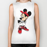 minnie mouse Biker Tanks featuring MINNIE MOUSE AJ4 by EA88