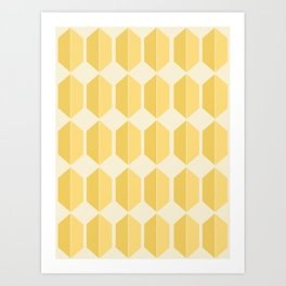 Zola Hexagon Pattern - Golden Spell Art Print