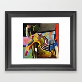 Circus Juice (oil on canvas) Framed Art Print