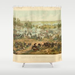 Civil War Battle of Gettysburg July 1-3 1863 by Paul Philippoteaux Shower Curtain