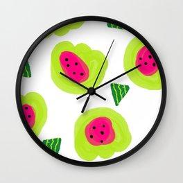 Melon Dream Watermelon brightness pips and all Wall Clock