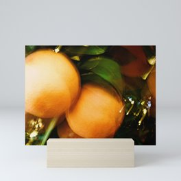 Abstract Orange Tree Delight Mini Art Print