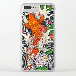 Art of Koi Fish Leggings Clear iPhone Case