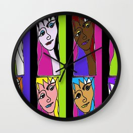Facets of Fey Wall Clock