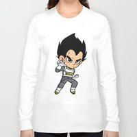 vegeta Long Sleeve T-shirts featuring Vegeta ROF by LexieArtz