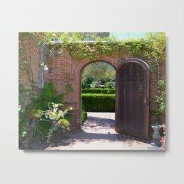 door to the gardens Metal Print