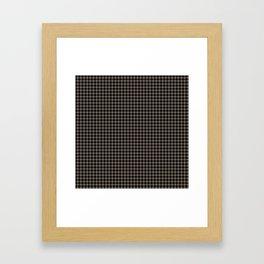 Mini Black and Sandstone Brown Western Cowboy Buffalo Check Framed Art Print
