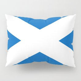 National flag of Scotland - Authentic version to scale and color Pillow Sham