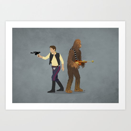 Han & Chewie Art Print
