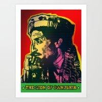 The Lion Of Panjshir Art Print