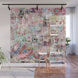 Des Moines map Wall Mural