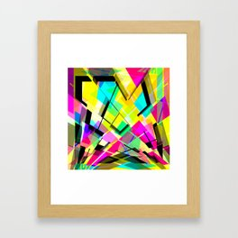 multifaceted  Framed Art Print