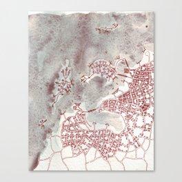 Coffee Stain Civilization (Cityspace #97) Canvas Print