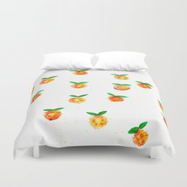 Tangerine splash Duvet Cover