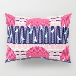Hello Ocean Sunset Waves Pillow Sham