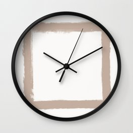 Square Strokes Nude on White Wall Clock