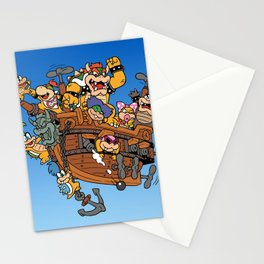 Father and His Children Stationery Cards