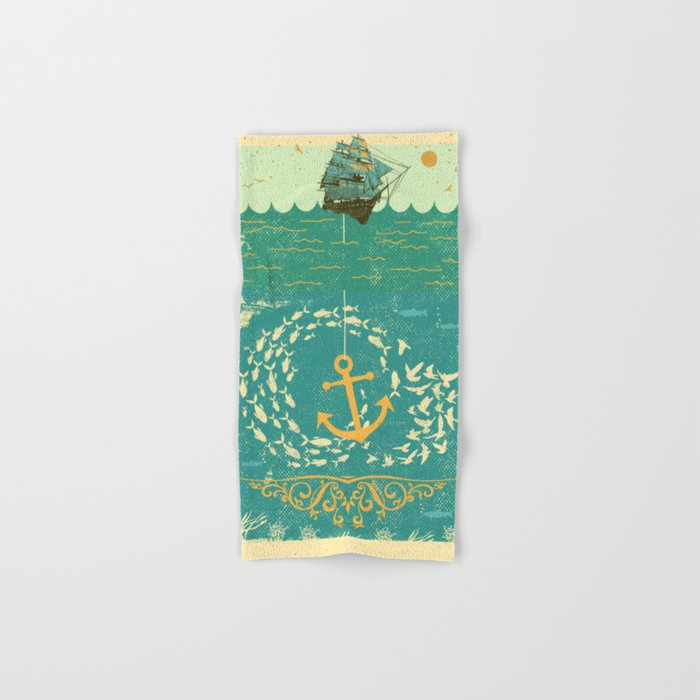 GOLDEN ANCHOR Hand & Bath Towel