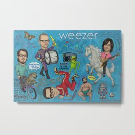 Weezer - Gosh Dang This Is Great! Metal Print