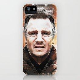 Liam Neeson Caricature iPhone Case