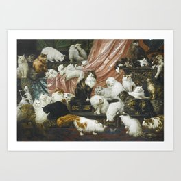 My Wife's Lovers by Carl Kahler 1883 Famous Cat Painting Art Print