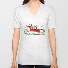 happy horse Unisex V-Neck