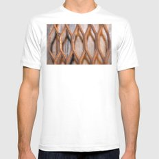 Rusted Steel Faded Wood MEDIUM Mens Fitted Tee White