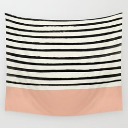 Peach x Stripes Wall Tapestry