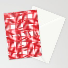 Classic(ish) picnic blanket pattern Stationery Cards