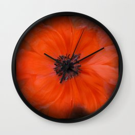 Poppy Square Wall Clock