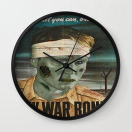Zombie wars : Buy war bonds Wall Clock