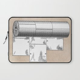 patent art Wheeler Wrapping of toilet paper 1894 Laptop Sleeve