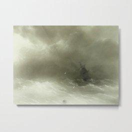 IVAN KONSTANTINOVICH AIVAZOVSKY - A Strong Wind Metal Print