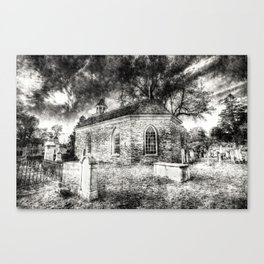 Sleepy Hollow Dutch Church Vintage Canvas Print
