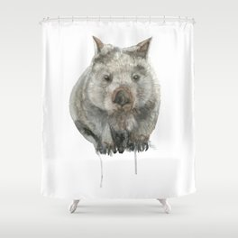 Wombat watercolour Shower Curtain
