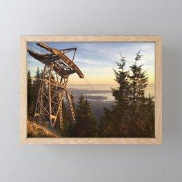 Grouse mountain, Vancouver, Canada Framed Mini Art Print