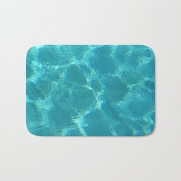 Turquoise Blue Water Bath Mat