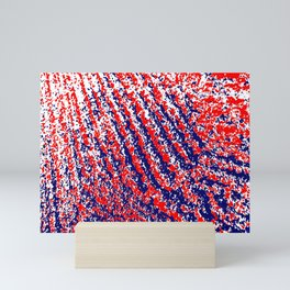 Red White Blue abstract Mini Art Print