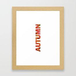 Peecking Season - Autumn Framed Art Print