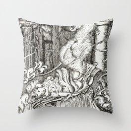 Secret visit Throw Pillow