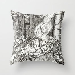 Secret visit Throw Pillow